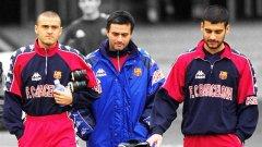 Моуриньо с Луис Енрике и Пеп Гуардиола в годините в Барса