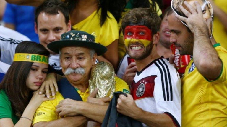 Може би най-значимото събитие от Мондиал 2014 бе не спечелването на титлата от Германия а начинът, по който Маншафта се класира на финал.  На полуфиналите Бундестимът нанесе една от най-тежките загуби в историята на Бразилия. Считаният за основен фаворит за титлата преди началото на турнира тим на Селесао бе разбит, а феновете на тима не можеха да повярват, че техните любимци няма да прегърнат Световната титла
