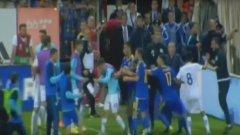 Мачът завърши без голове, но зрителите видяха типични сцени за футбола на Балканите
