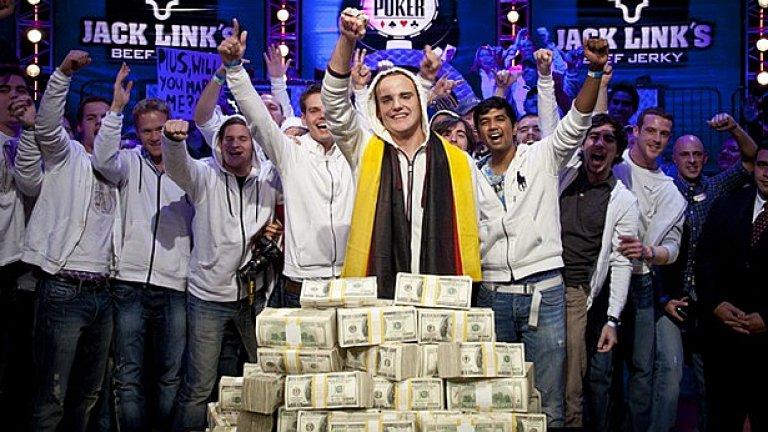 22-годишният германец Пиус Хайнц спечели Световните серии по покер WSOP 2011 в Лас Вегас и получи за успеха си 8,7 милиона долара!