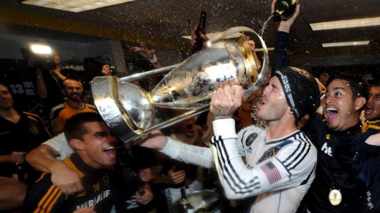 Дейвид Бекъм (ЛА Галакси, 2007-2012 г.) Шампион: 1999 г. (Манчестър Юнайтед – Байерн Мюнхен 2:1)