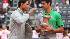 """Надал и Джокович спорят кой е номер едно в тениса, далеч пред останалите в ATP веригата. Няма съмнение кой е номер едно исторически на """"Ролан Гарос"""" - Рафа има осем титли..."""