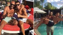 Приятелството на Кристиано и Бадр Хари бе една от основните причини за слуховете за връзките на футболиста с мъже.