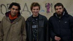 """Героите на """"Живот почти прекрасен"""" Джими, Александър и Божидар (отляво надясно)."""
