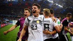 Великолепен удар на Тони Кроос в последните секунди донесе измъчената победа на Германия с 2:1 над Швеция