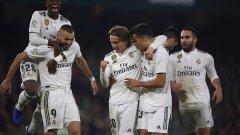 Реал взе изстрадани три точки, но даде още една жертва, тъй като Бензема се контузи в края на първото полувреме