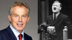 1. Тони Блеър е фен на Хитлер  Знаете ли, че Тони Блеър е имал постери с лика на Адолф Хитлер на стената си, когато е бил тийнейджър? Вероятно и самият Блеър не е знаел, преди информацията да се появи в биографията на бившия английски премиер в Wikipedia. Ето я и връзката между политиката и интернет енциклопедията - след като решава да подкрепи инвазията на САЩ в Ирак, Блеър се превръща в любима цел за wiki-вандализъм като това е само един от примерите.