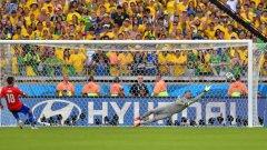 Гонсало Хара изстрелва в гредата последната дузпа и праща в екстаз 200 милиона бразилци.