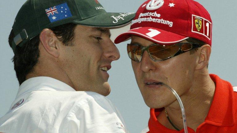 Уебър признава: Не бях близък с Шумахер