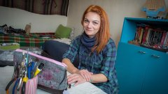 В свой дом-ателие Миха може само да се радва от омесването на работа и удоволствие
