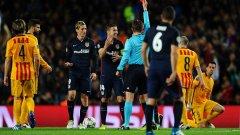 Изгонването на Торес, който отбеляза гола за Атлетико в първия мач, може да се окаже ключово