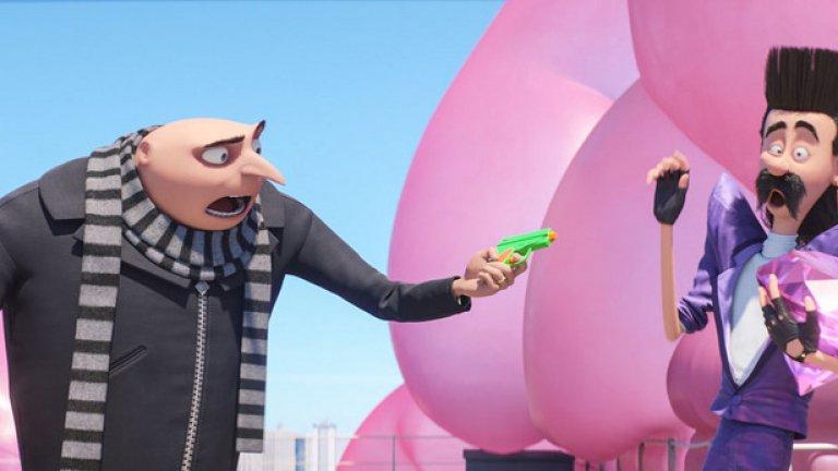 """""""Аз, проклетникът 3"""" / Despicable Me 3 (30 юни)  Стийв Карел се завръща в ролята на Гру и през 2017 г. в продължението на """"Аз, проклетникът"""". Филмът определено извърши огромна трансформация от първоначалната непретенциозна анимация за симпатичния суперзлодей, който реши да открадне луната, а вместо това се принуди да осинови три хлапета. Благодарение на успеха на първия """"Проклетник"""", последва продължение, прикуел за миньоните, шест късометражни филма, три видео игри и дори тематичен парк за забавления."""
