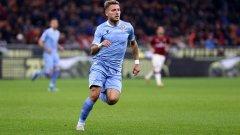 Имобиле вкара стотния си гол за Лацио.