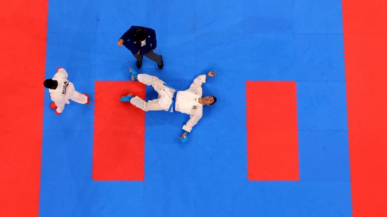 Иранец бе нокаутиран във финала на каратето. Когато се събуди, разбра, че е олимпийски шампион
