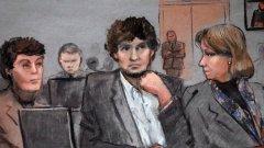 За първи път по време на делото, 21-годишният Царнаев говори в съдебната зала