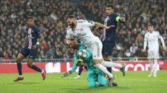 Победата на Реал изглеждаше сигурна, но Навас попречи на домакините да вкарат още голове и накрая ПСЖ стигна до равенството
