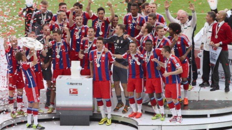 9. Байерн Мюнхен - 5 поредни титли Байерн ще запази мястото си в тази класация и през следващата година - това е сигурно. Баварците нямат конкуренция в първенството и водят с невероятните 20 точки на втория Шалке.