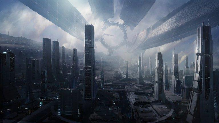 """Цитаделата (поредицата Mass Effect)  С поредицата Mass Effect канадското студио BioWare изгради една гигантска вселена с многобройни фантастични локации и страхотен сюжет. А в нейния център е Цитаделата - космическа база в дълбокия космос, която служи като столица на първата по рода си звездна федерация. Справка с Wikiа сайта на Mass Effect показва, че там """"живеят"""" над 13 милиона души и наистина когато за пръв път мисията ви отведе на мястото, усещането, че навлизате в центъра на истинска галактическа цивилизация е неописуемо. Огромният комплекс се разгръща в невероятни хоризонтални и вертикални мащаби. Структурата на Цитаделата се състои от един масивен централен пръстен и пет ръкава, които могат да се прибират при опасност, така че базата се трансформира в непробиваем цилиндър.   При създаването на Цитаделата дизайнерите на BioWare се вдъхновяват от космическата станция в популярния ТВ сериал """"Вавилон 5"""", както и от града Сигил от вселената на Planescape Dungeons and Dragons. Мисии в Цитаделата имате и в трите части на оригиналната трилогия, което показва колко важна е тя за сюжета на Mass Effect."""