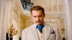 """В най-новия си филм """"Мордекай"""" Джони Деп е някакъв странен хибрид между инспектор Клузо и Салвадор Дали"""