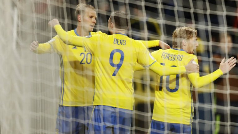 Без особени проблеми шведите вкараха три гола и можеха да отбележат поне още толкова