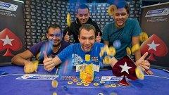 Щастливият победител Петър Зографов със свои приятели