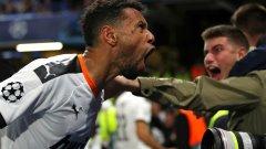 Бившият футболист на Арсенал Франсис Коклен ликува след гола на Валенсия