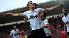 Холандският магьосник Робин ван Перси бе последният, който наниза хеттрик за Юнайтед в Шампионската лига.