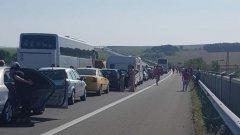 В посока Бургас има сериозно задръстване