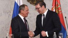 Лавров представил на сръбския президент информация, че се готви схема за отстраняването му