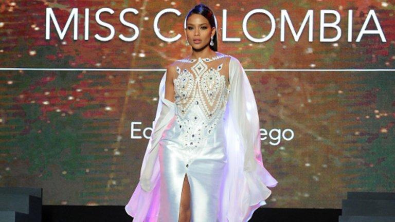А латиноамериканската Мис Колумбия е трета.