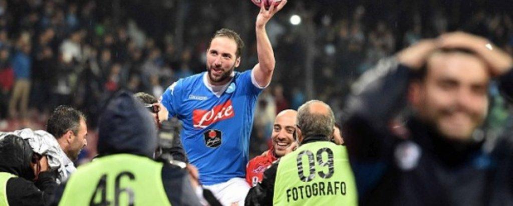 2. Наполи – 82 точки Скудетото се изплъзна на тима на Мауруцио Сари, но Наполи сътвори история, както като отбор, така и с представянето на Гонсало Игуаин.