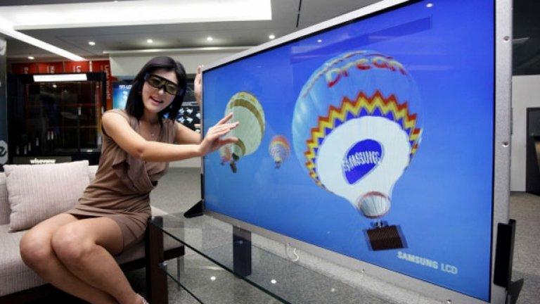 """Британската верига """"Джон Люис"""" продава 40-инчов модел на Samsung, но в момента има само един филм, който може да се гледа на 3D..."""