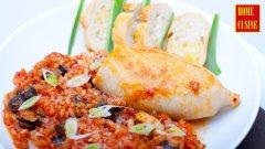 Пълнени калмари с ориз и домати
