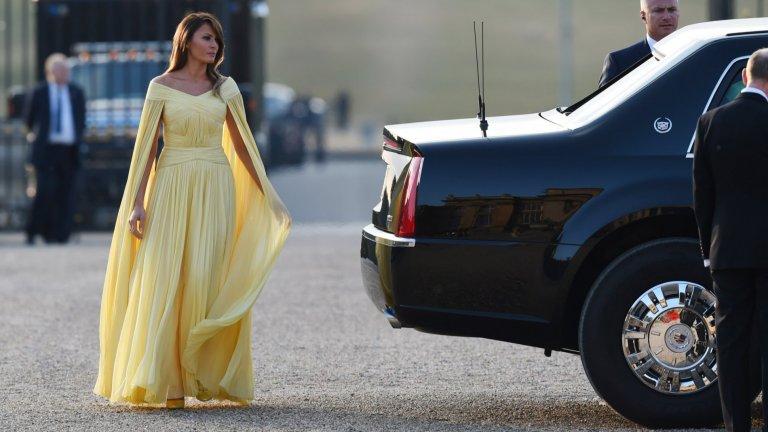 Госпожа Тръмп в любимия си стил...