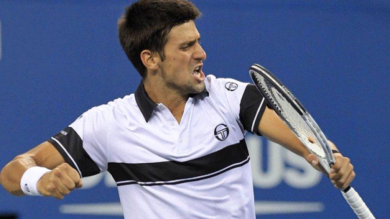"""Сръбската тенис сензация Новак Джокович спечели три турнира от """"Големия шлем"""" през годината"""