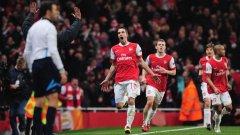 Този път Ван Перси не беше достатъчен за успеха на Арсенал