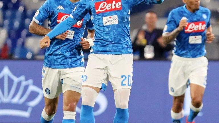 Жиелински сложи началото на разгрома над Интер с фамозен гол отдалеч