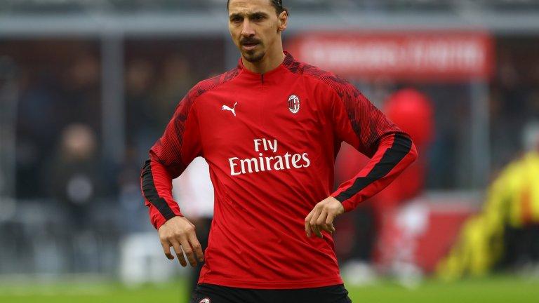 Очаква се Златан Ибрахимович да поведе атаката на Милан срещу бившия си отбор Интер в днешното градско дерби