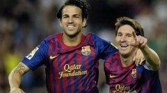 Сеск Фабрегас и Лионел Меси бяха в основата на успеха на Барселона с 8:0 над Осасуна