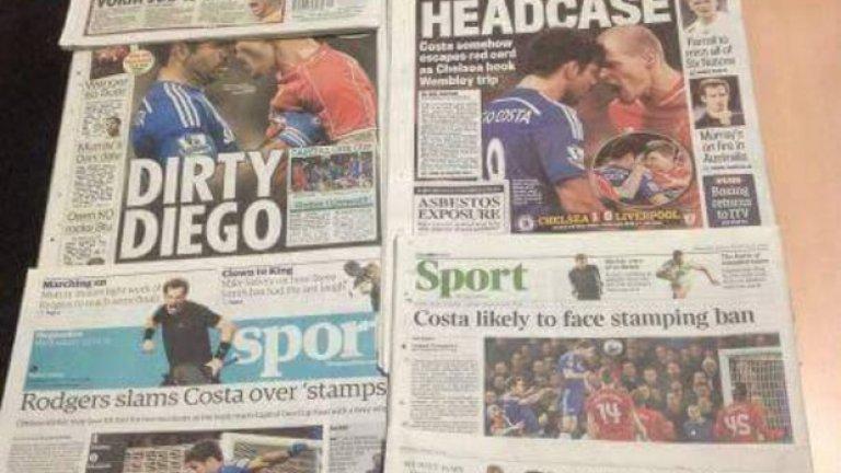 """Вестниците в Англия обаче са на едно мнение - """"мръсен"""", """"срам"""", """"престъпления""""..."""