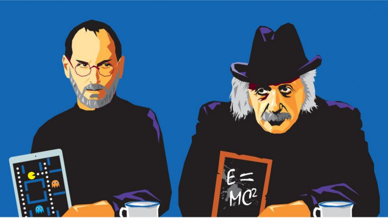 Айнщайн и Джобс притежават интуитивен и пъргав ум, въображение и вяра в собствените идеи