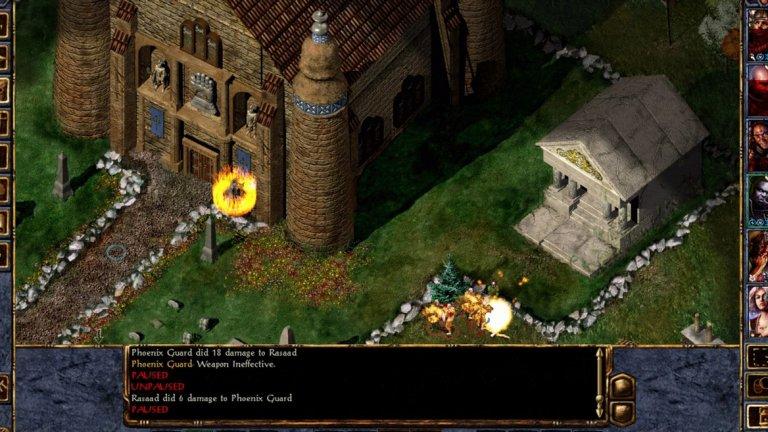 Baldur's Gate (iOS/Android)  Име, което предизвиква благоговение в почитателите на класическите компютърни игри, Baldur's Gate бе върната към нов живот през 2012 г. с римейк, който по-късно се появи за мобилни устройства. Enhanced Edition версията е преработена доста, за да отговори на съвременните очаквания - нов енджин, по-удобен интерфейс, нови анимации, обширен туториъл и др.   Въпреки това, Baldur's Gate си остава стара игра в много отношения и това не е лошо, стига да знаете какво да очаквате. Кампанията е дълга, битките са комплексни, трудността е висока и трябва доста често да записвате прогреса си, за да не бъдете изненадани неприятно. И още нещо, играта изглежда много по-добре на таблети заради широкия екран - дори големите смартфони трудно могат да поберат огромния брой икони и менюта.