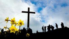 """На Разпети петък хората осъждат Божия син на смърт; невинният, дошъл да донесе мир и любов, е бичуван, а разярената тълпа крещи """"Разпни го"""". Върху Исус се изсипват безброй подигравки и ругатни."""