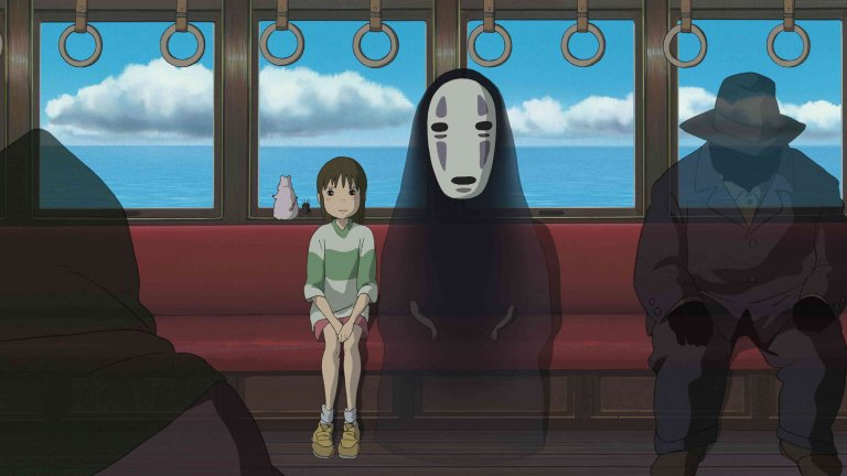 """""""Отнесена от духовете"""" Малката Чихиро не иска да се мести, но родителите ѝ настояват. Само че докато пътуват към новия си дом, те са привлечени от странна сграда край пътя - изоставен лунапарк, в който има интересни атракциони и вкусна храна. Докато родителите на момичето се оставят да бъдат подмамени от магията на мястото, Чихиро успява да се спаси с малко помощ. Така тя попада в един нов свят - магически увеселителен парк за духове, ръководен от магьосницата Юбаба. Сега мисията на момичето и нейният тайнствен помощник е да се измъкнат и да спасят родителите ѝ от опасна участ. С приходи от 22,4 милиарда йени """"Отнесена от духовете"""" се превръща в най-успешния за времето си в търговско отношение филм в историята на японското кино. През 2002 година филмът получава първата награда """"Оскар"""" за най-добър пълнометражен анимационен филм, както и наградата Златна мечка."""
