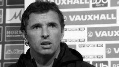 Покойният Гари на пресконференция в София като треньор на националния тим на Уелс