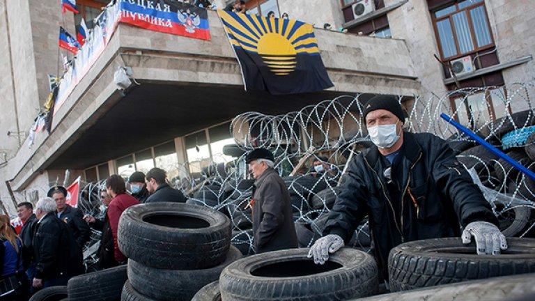 Проруски настроени протестиращи в Донецк