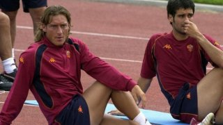 Франческо Тоти и Пеп Гуардиола в Рома, 2002