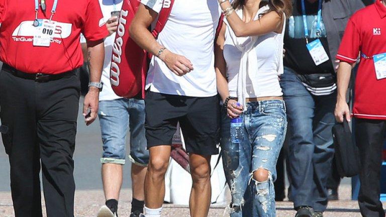 Григор Димитров е сред големите звезди в тениса, но е далеч от славата на Никол Шерцингер. Вижте в галерията и другите звезди двойки...