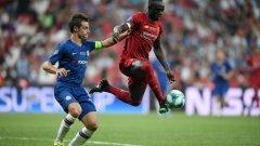 Садио Мане вкара двата гола за Ливърпул, но в продълженията беше заменен