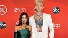 Актрисата и рапърът с първа публична поява като двойка на Американските музикални награди